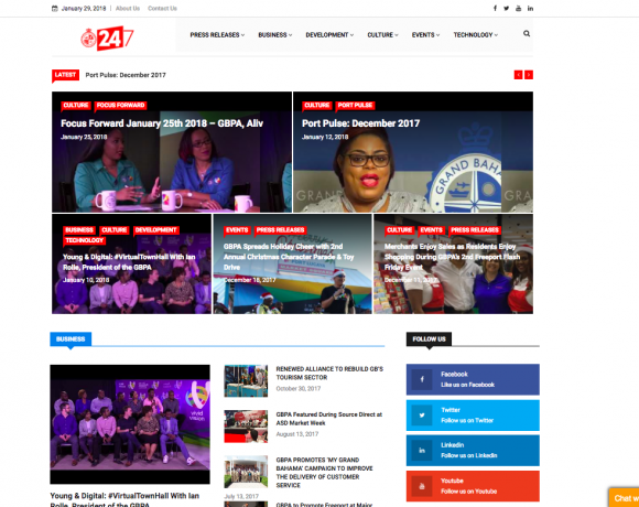 GBPA's new media site, GBPA 24/7